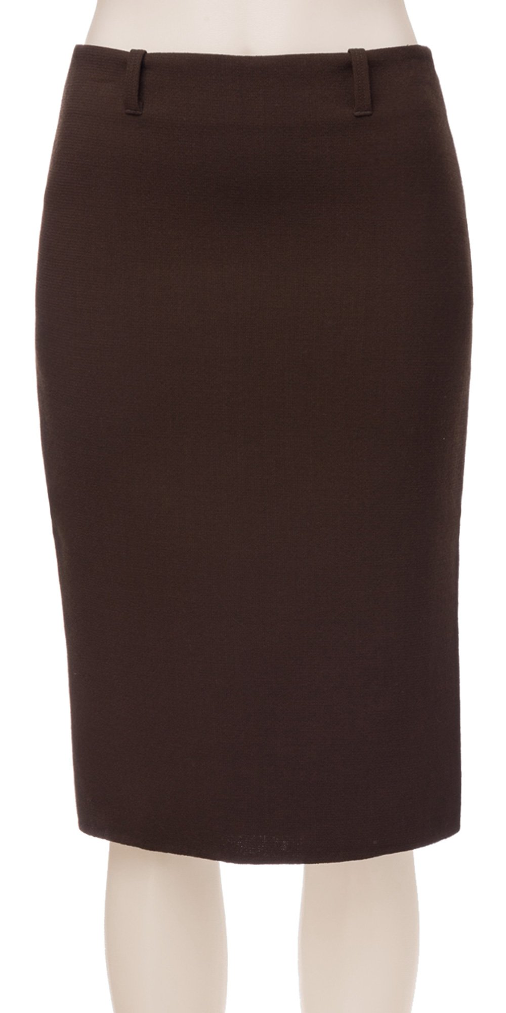 Double-weave Crepe Slim Skirt - 3108N15-DKBROWN-6