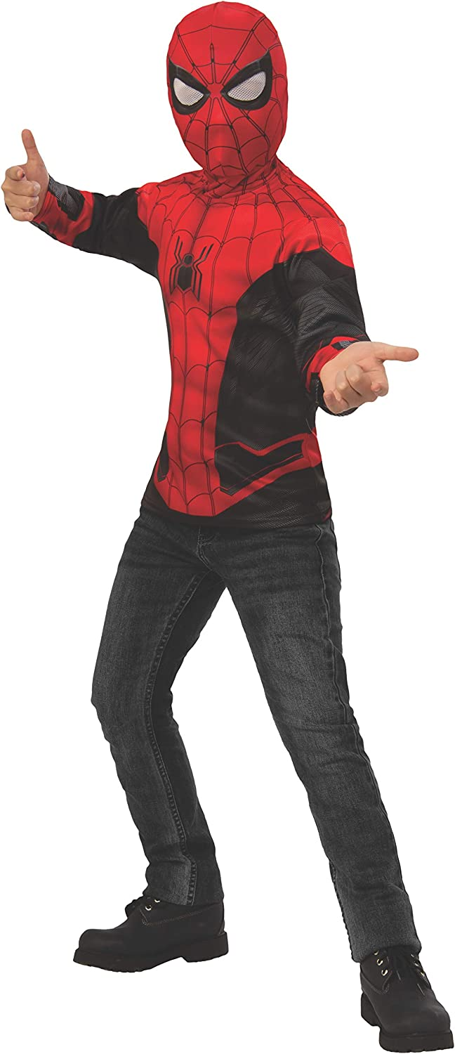 Spider-Man Far from Home: Spider-Man Kids Costume Top (Red/Black Suit)