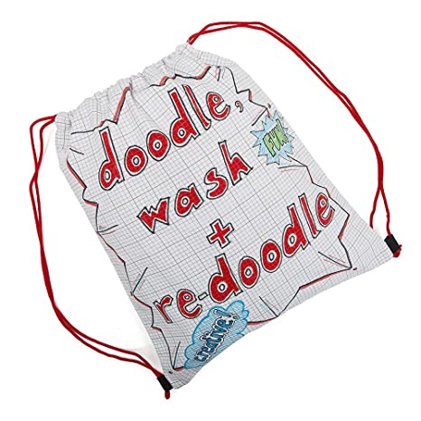 Amazon.com: Doodle Drawstring Backpack, Color Your Own Backpack ...