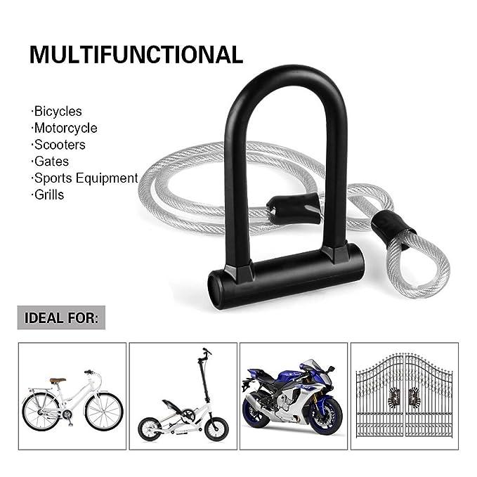 Heavy Duty combinación bicicleta U Lock, OUTERDO bicicleta U ...