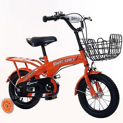 Vélos pour enfants 12/14/16/18 pouces vélos pour garçons et filles tricycles pour enfants 3/6/8 ans sorties en plein air vélos pour enfants ( Color : Orange , Size : 18 inches )