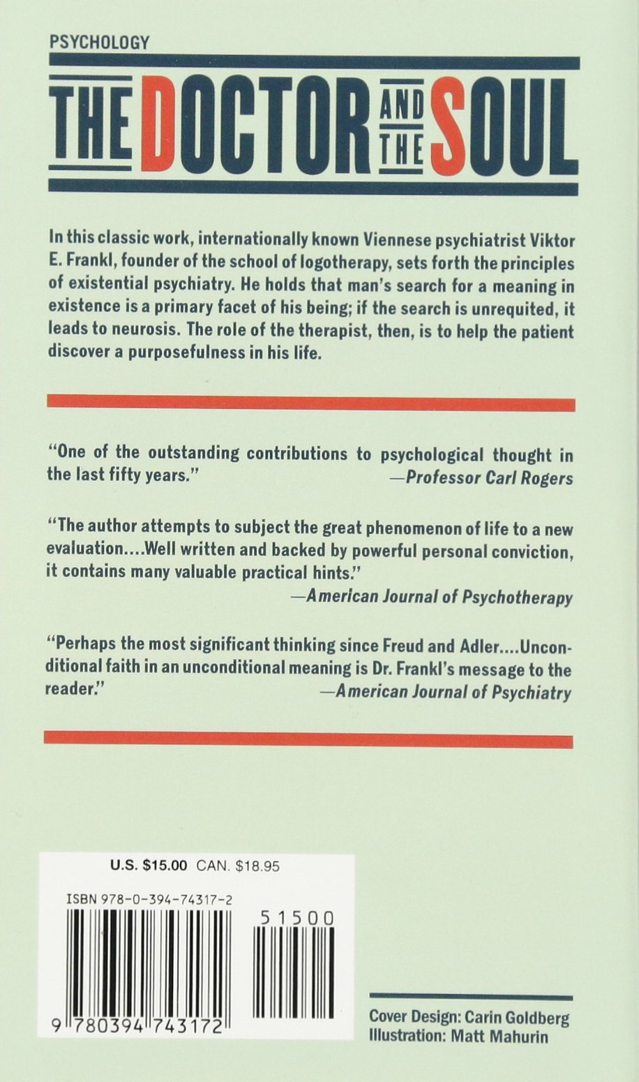 The Doctor And The Soul: From Psychotherapy To Logotherapy, Revised And  Expanded: Viktor E Frankl, Richard Winton, Clara Winton: 9780394743172:  Amazon: