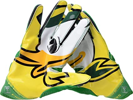 27a8c8eb Oregon Ducks Team-Issued Green and Yellow Superbad 4 Nike Football ...