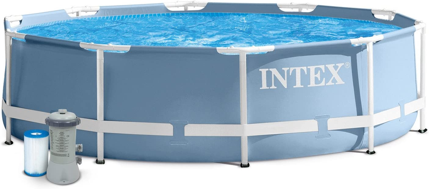 Intex Piscina 3, 66 m 0, 76 m Prism Frame con Depuradora: Amazon ...