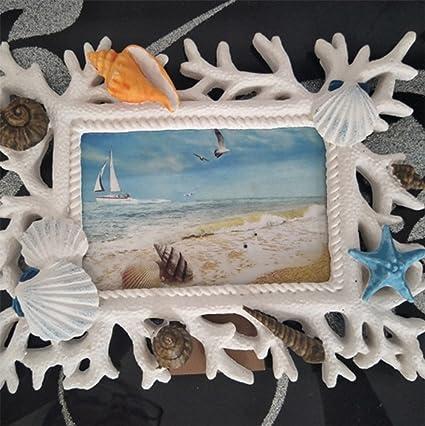 weiwei Marco De Fotos De Resina Estilo Mediterráneo, Portaretrato Antiguo Creativo Adornos De Escritorio Artesanal