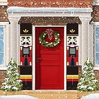 Trubetter Nutcracker Christmas Decorations - Outdoor Xmas Decor - Soldier Model Nutcracker Banners for Front Door Porch Garden Indoor Exterior Kids Party