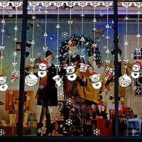 Heekpek® NoëL Boule De Neige Stickers Muraux Amovibles Mur De FenêTres En Vinyle De La Maison Autocollants DéCalcomanie DéCoration