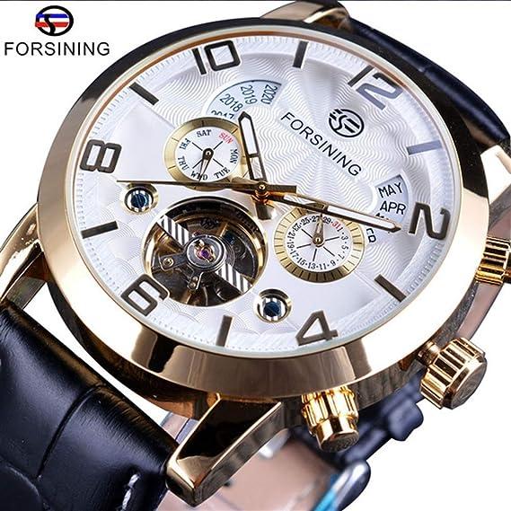 HWCOO Relojes mecánicos Reloj mecánico automático para Hombres Forsining Reloj multifunción Grande para Hombres (Color : 2): Amazon.es: Relojes