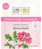 Aura Cacia Aromatherapy Mineral Bath, Comforting Geranium, 2.5 ounce packet (Pack of 3)