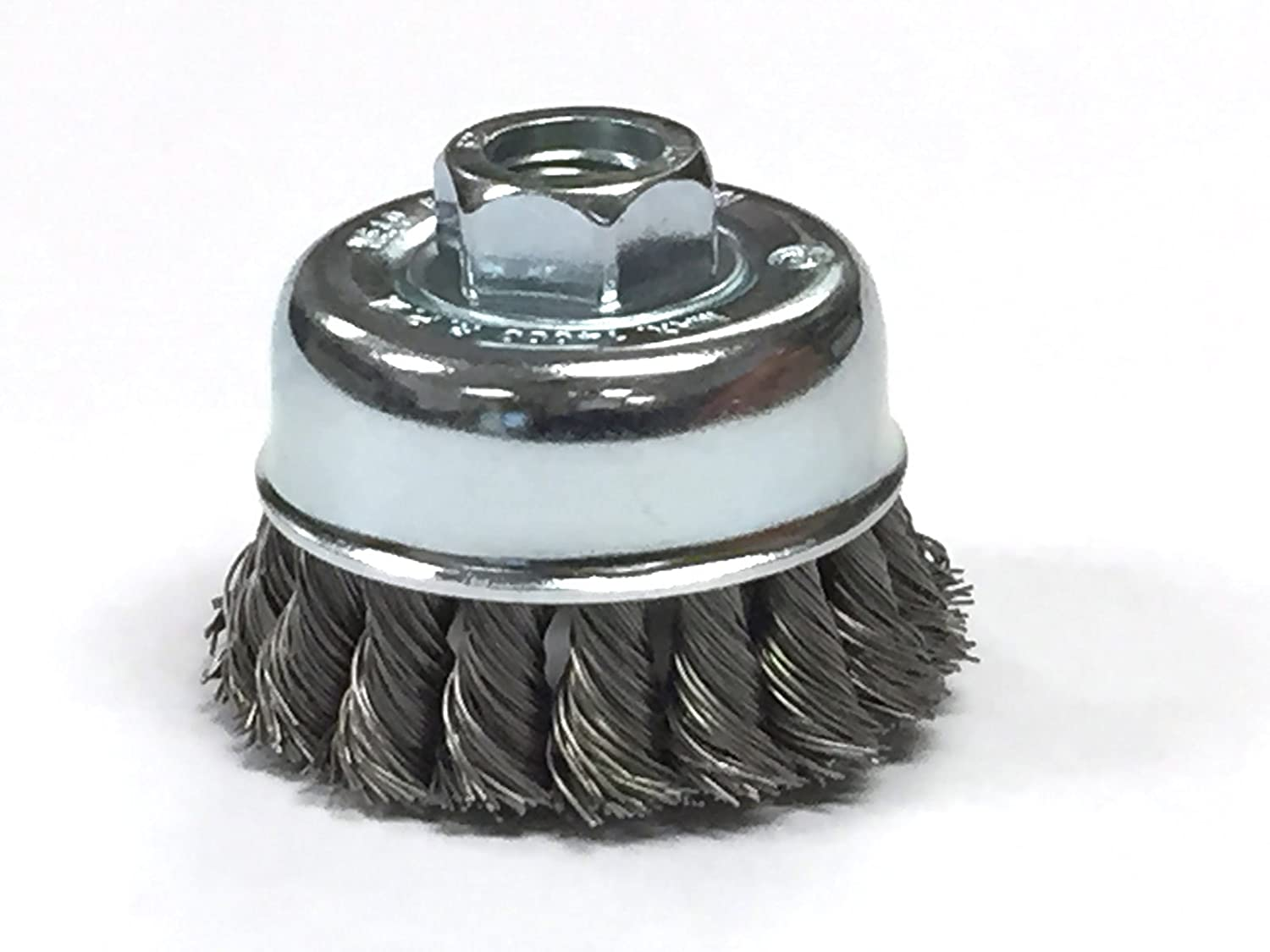 2-3/4' Knotted Cup Brush With 5/8-11 Inch Arbor - Carbon Steel Wire