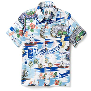 31ff4360 Reyn Spooner Boys' Big Los Angeles Dodgers MLB Classic Fit Hawaiian Shirt,  Scenic 2019
