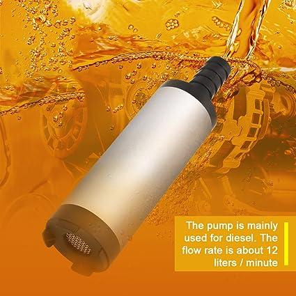 12v 3 8cm 12l Min Edelstahl Tauchpumpe Entladung Diesel Wasser Kerosin Tanken Werkzeug 8500r M Baumarkt