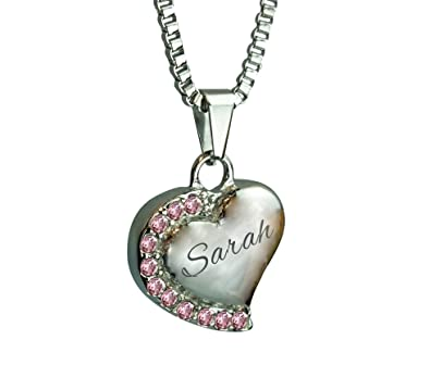 Nan Angel Wings Crystal Heart Urn Pendant Necklace - Memorial Ash Keepsake - Cremation Jewellery - With Engraving YlBfJB