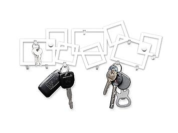 M-KeyCases Perchero Decorativo de Pared Gancho Estante para Porta Llaves Llaveros Tablero Percha Metal Colgadero Sweet Home Garaje Cocina Key Hanger ...
