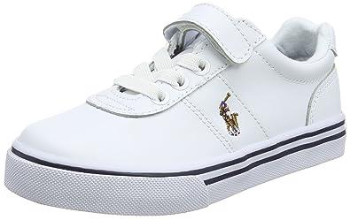 Ralph Lauren Hanford EZ, Baskets Mixte Enfant, Blanc (White Leather 000), 7a07e02c177