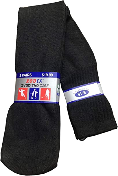 "Men/'s Big /& Tall Sports Tube Socks 3//6//12 Pack  /""Over The Calf 26/"" inches/"""