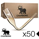 CHAMBONG – Classic Size, 50 Pcs Acrylic Shatterproof Event Pack, Convenient Bulk Packaging - Champagne Shooter Plastic Flute - Fun Party Favor, Bachelorette, Bridesmaids Gifts, Drinking Game