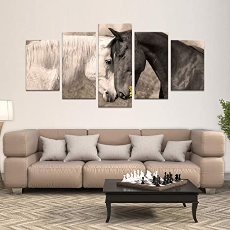 Amazon Com Horse Affection Canvas Wall Art Decor Ready To Hang Large Print For Home Office Living Room Bedroom Kitchen Bathroom Great For Men Women Girls Boys Made