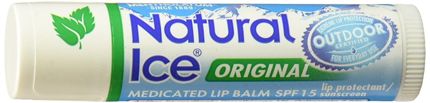 Natural ice Original Flavor SPF 15 Medicated Lip Protectant/Sunscreen (3 sticks) MENTHOLATUM INC. 310742000412