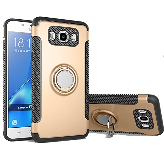new style 691f8 b3ddd Galaxy J3 Case, Galaxy J3 V Case, Express Prime Case, Amp Prime Case, Ranyi  [Ring Stand Armor] [Adsorbed iron Plate] [360 Rotating Metal Ring] Hybrid  ...