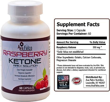 Amazon Com Raspberry Ketones Naturally Lose Weight 500mg Of High Quality Raspberry Ketones Per Capsule 60 Ct 100 Natural Weight Loss With Raspberry Ketone