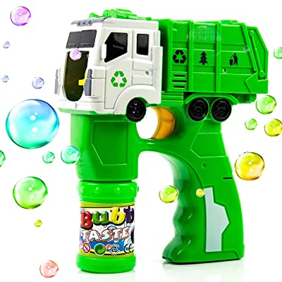 Toysery Truck Bubble Shooter Gun Toy - Automatic Bubble Blower for Kids - Musical Bubble Toy for Kid Age 3 and Above - Best Gift for Kids on Birthdays, Christmas, Party Favors, Picnic: Toys & Games