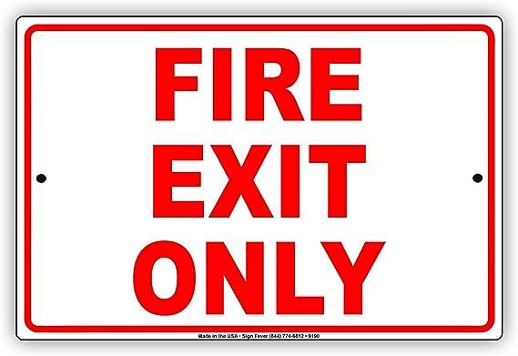 Exit sign 5118BKW Waterproof Entrance Exit and door notices