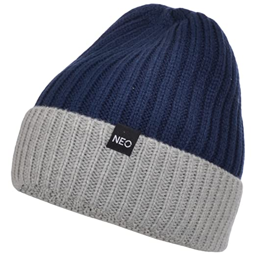 Amazon.com   adidas Neo Womens Knitted Two Tone Beanie - Navy ... 624884f226c