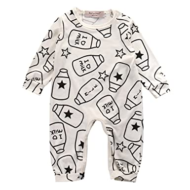 Nice Baby Girl Boy Clothes Love Milk Letter Printed Romper Outfits Online Shop Clothing, Shoes & Accessories