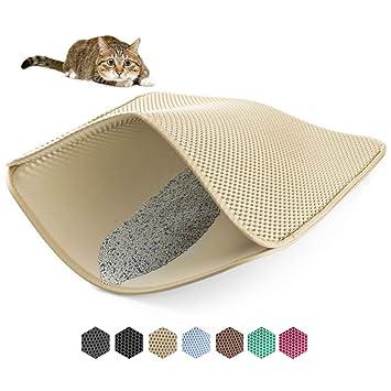 Amazon.com: WePet - Alfombra de arena para gatos, alfombra ...