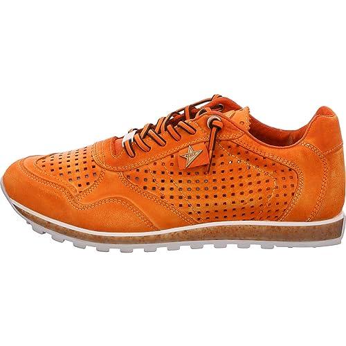 Cetti Sneaker - Zapatillas de Cuero para Mujer Naranja ámbar: Amazon.es: Zapatos y complementos