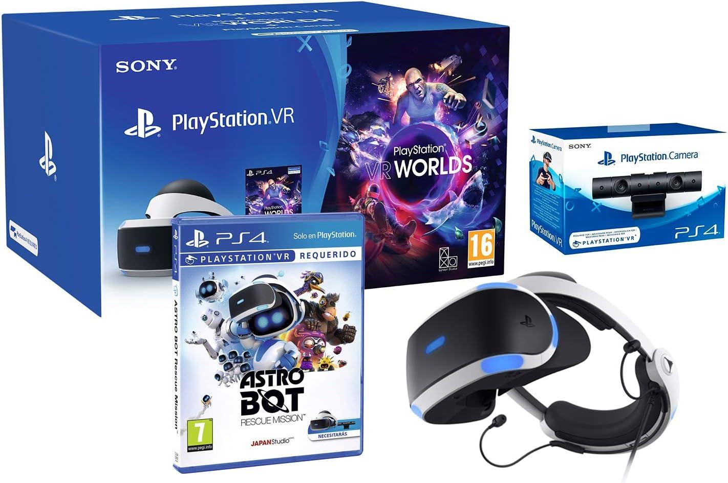PlayStation VR2 CUH-ZVR2 Astro Bot + VR Worlds + Camara V2: Amazon ...