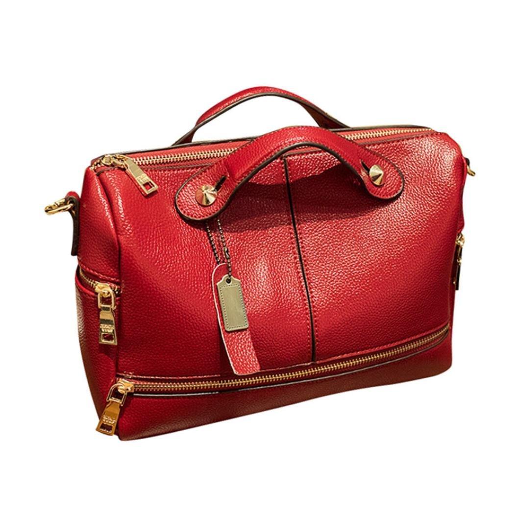 Pocciol Women Favorite Handbags, Women Famous Handbag Messenger Tote Bags Shoulder Bag (Red)