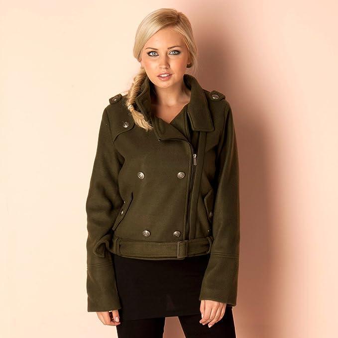 Brave Soul chaqueta militar (verde) para mujer