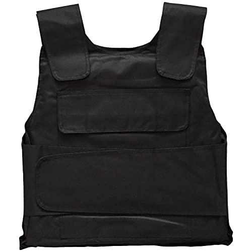 BRIFIELD STAB PROOF VEST - Level 1 Tungsten Steel Stab Proof Plates / Front & Back Protection / Lightweight at 2.5KG / Vest Straps Adjustable Between Small - Extra Large Body Size