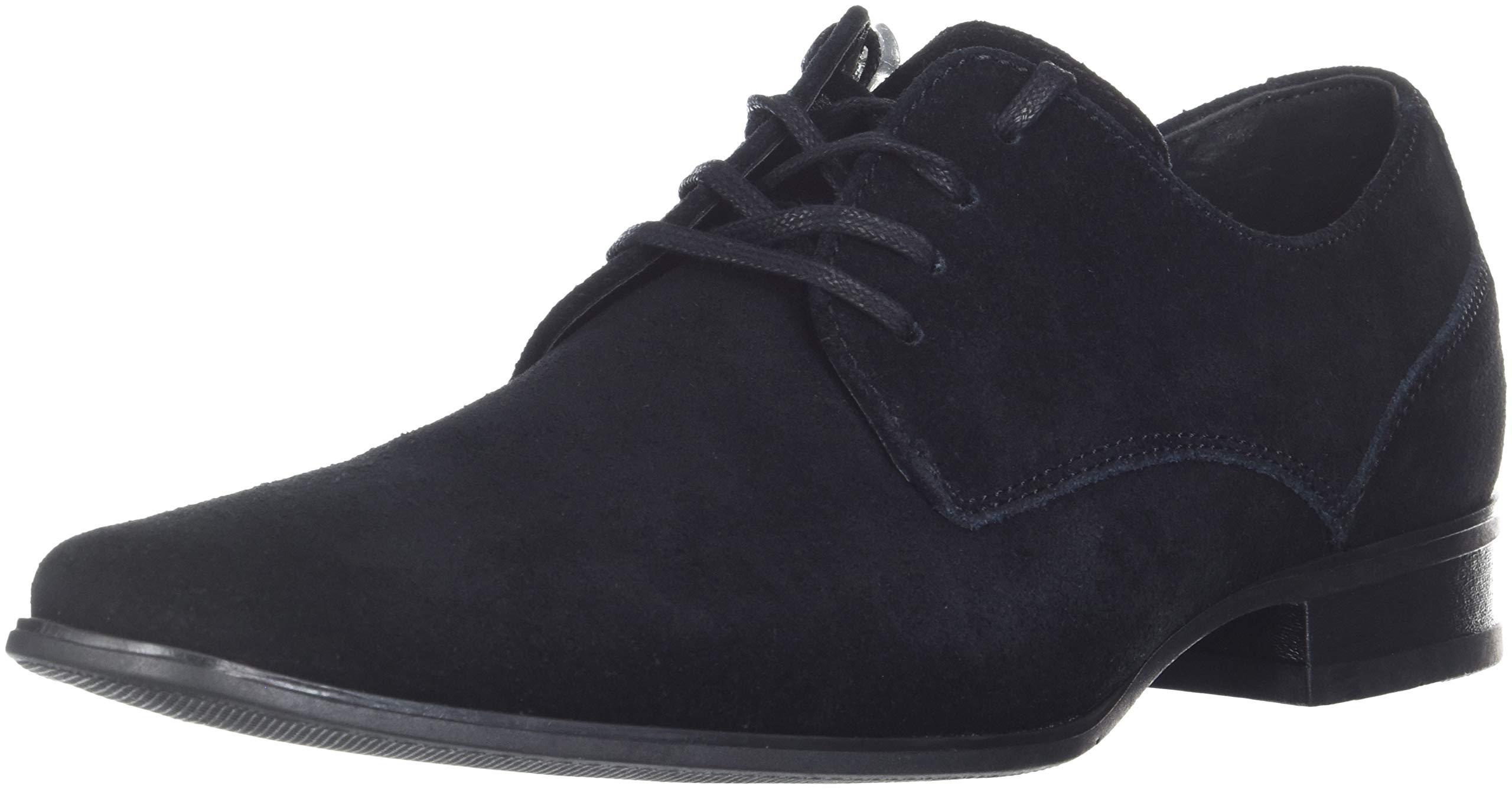 Calvin Klein Men's Brodie Oxford Shoe, Black Calf Suede 9 M US