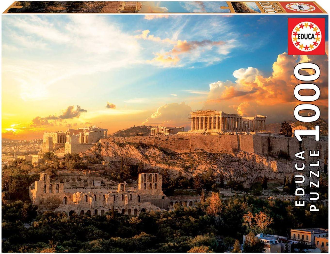 Educa Borras - Genuine Puzzles, Puzzle 1.000 piezas, Acrópolis de Atenas (18489)