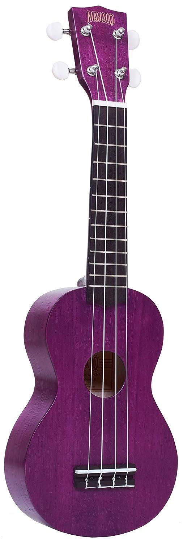 Transparent Purple Mahalo Ukuleles MK1-PTPP Kahiko Plus Series Left Handed Soprano Ukulele