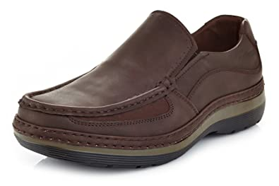 e13f65c574f9d Amazon.com | Solo Men's Brand Comfort Casual Slip on Work Shoe Parker 300  7.5 Coffee Brown | Loafers & Slip-Ons