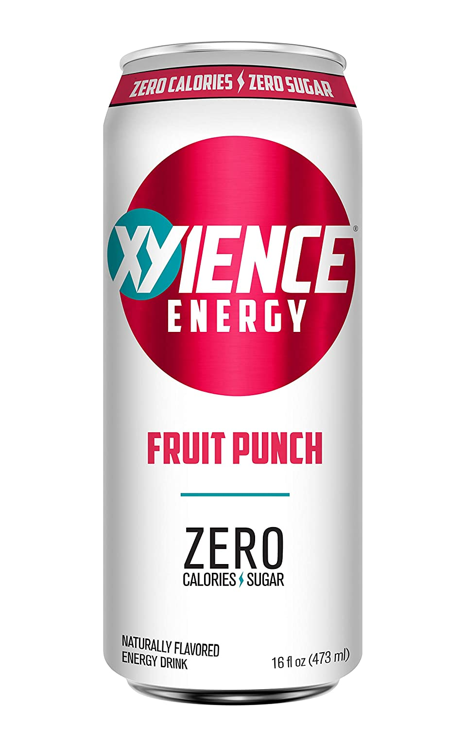 XYIENCE Energy Drink | Fruit Punch | Sugar Free | Zero Calories | Natural Flavors | Vitamin Fortified | 16 Ounce (Pack of 12)