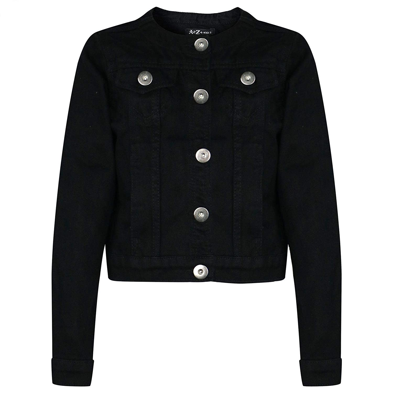 Kids Girls Denim Jackets Designer Black Jeans Jacket Fashion Coats Age 3-13 Year