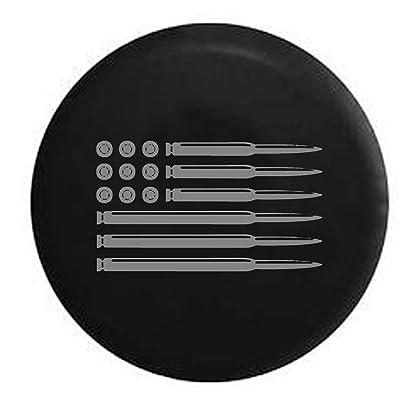 "AR15 Rifle American Flag Military Gun Hunting Spare Tire Cover (30/31"" (235/70R16), (255/70/R17), (265/70R16), Stealth): Automotive"