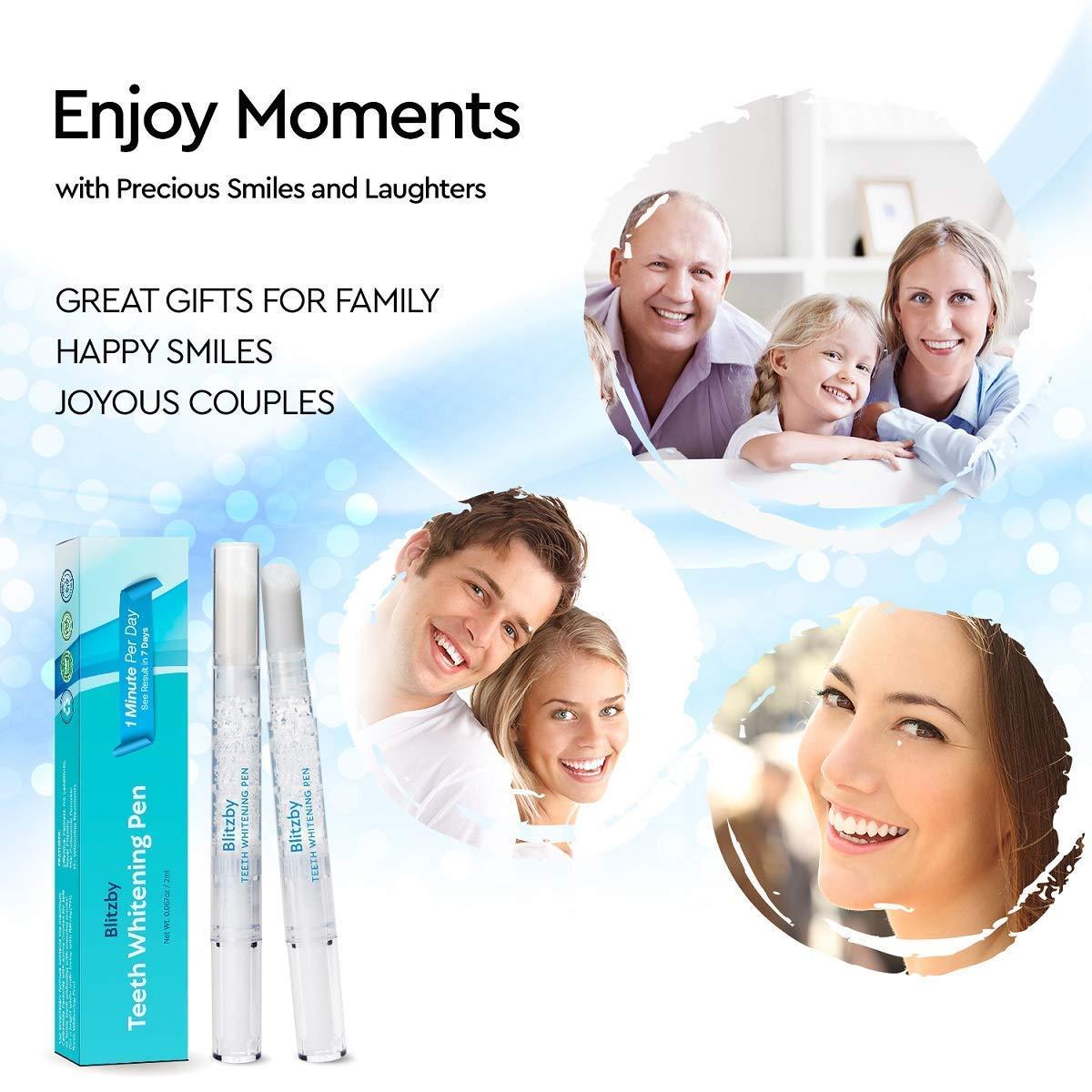 Blitzby Teeth Whitening Pen 3pcs Upgraded Formula 50 Plus Uses Effective Painless No Sensitivity