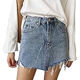 Été Jupe pour Femme - Mode Slim Fit Taille Haute Courte Jupe en Denim Printemps Casual Mini Jupe de Crayon Streetwear