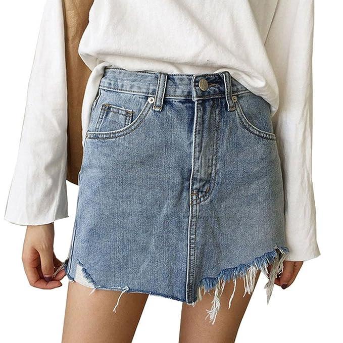 Gonna di jeans a portafoglio con tasche | OVS