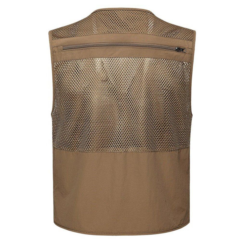 Men Outdoor Breathable Mesh Vest Multi-pocketed Waistcoat Safari Sightseeing Fishing Camping Traveling Photography Adventure Jacket Bodywarmer Camo Gilet