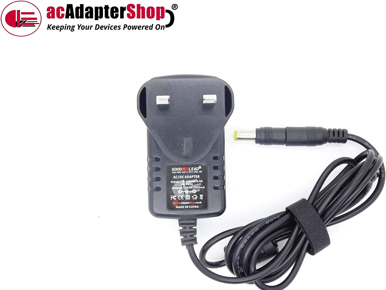GOOD LEAD Replacement for 7.5V 400mA AD-1 AC Adaptor fits Casio SA-75 Song Bank Keyboard