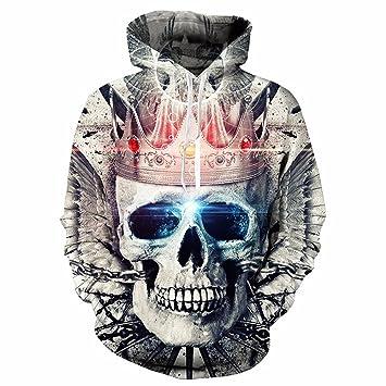 WDBAYXH Imprimir Sudaderas Sudaderas de Resorte 3D Crown Imprimir Marca de Moda Chaqueta con Capucha Outwear Untar Hip Hop Chándal de Hombres: Amazon.es: ...
