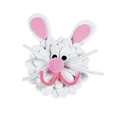 Foam Flower Bunny Magnet Craft Kit - Crafts for Kids and Fun Home Activities: Toys & Games