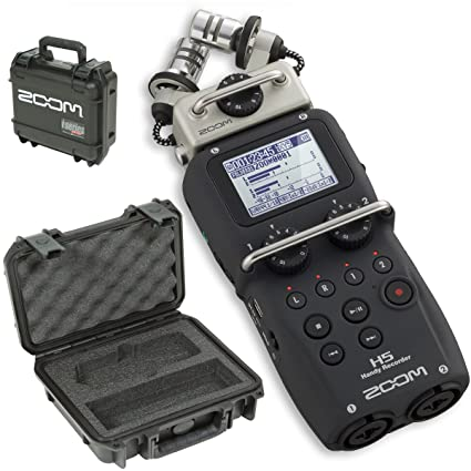 Zoom H5 Handy Recorder & SKB 3I-0907-4-H5 Waterproof Hard Case - Bundle